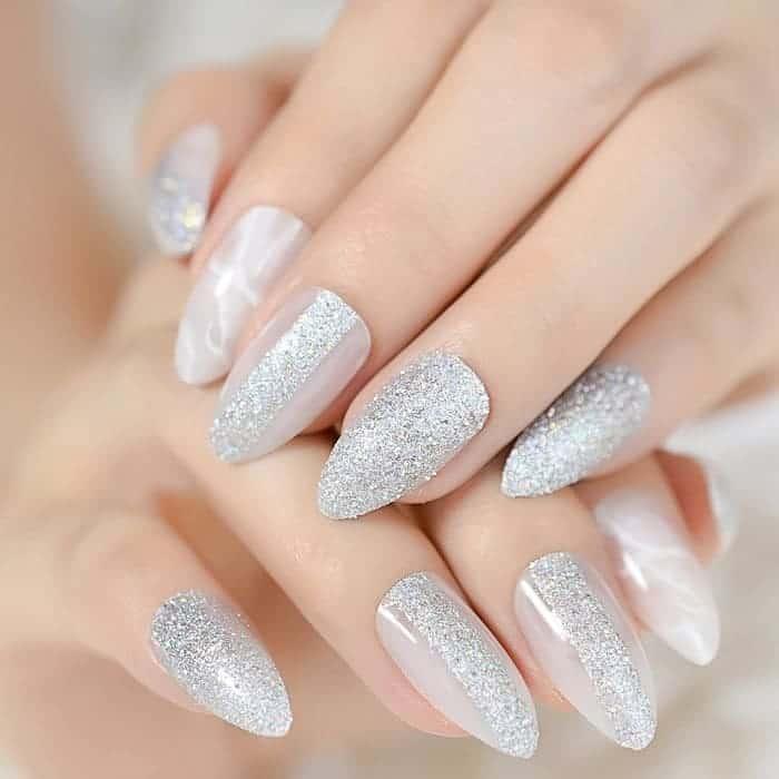 almond fake nails