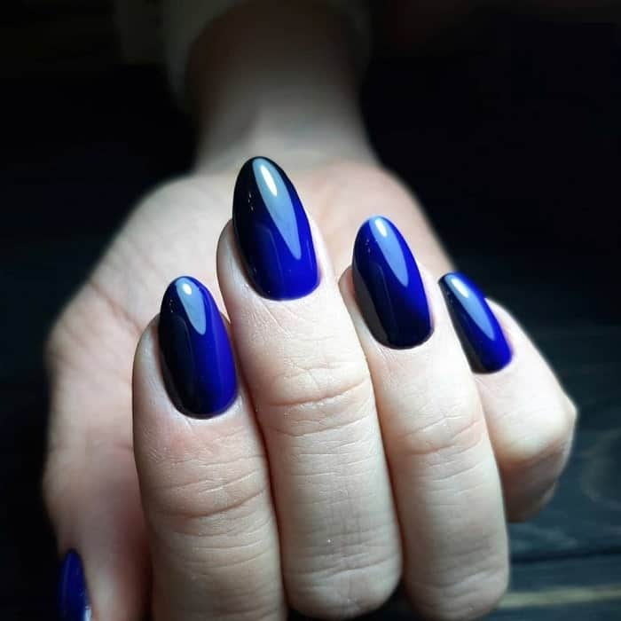Black And Blue Nails