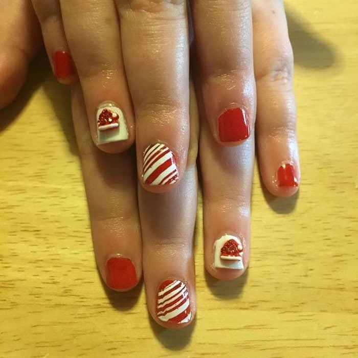 christmas nails for little girl