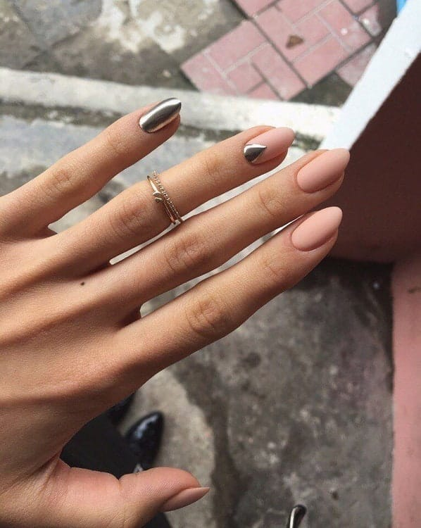 Chrome Accent Nail