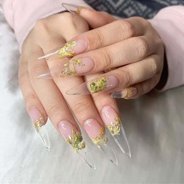 long clear nail design