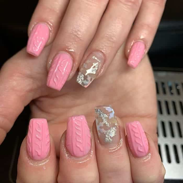 clear snowflake nails