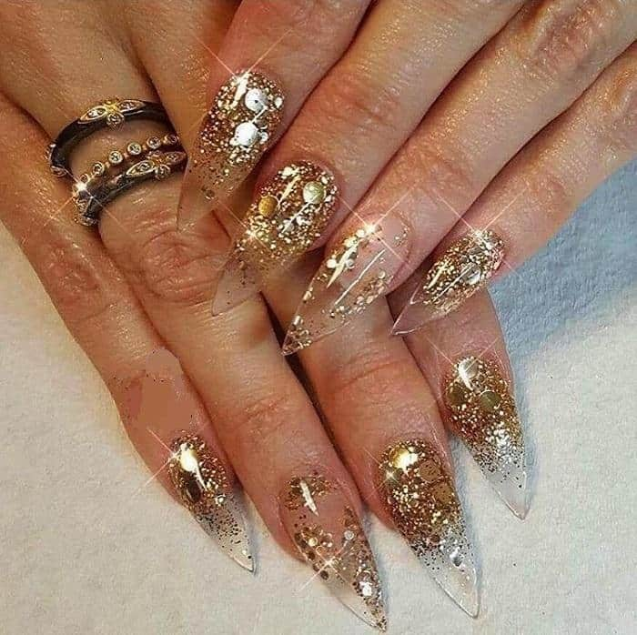 clear stiletto nails