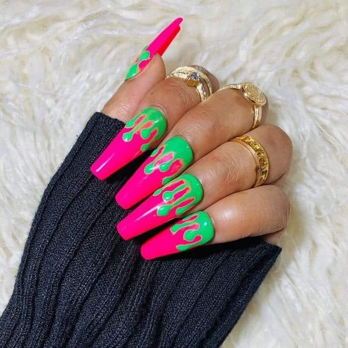coffin shaped fake nails