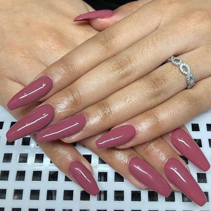 Dark Pink Nails