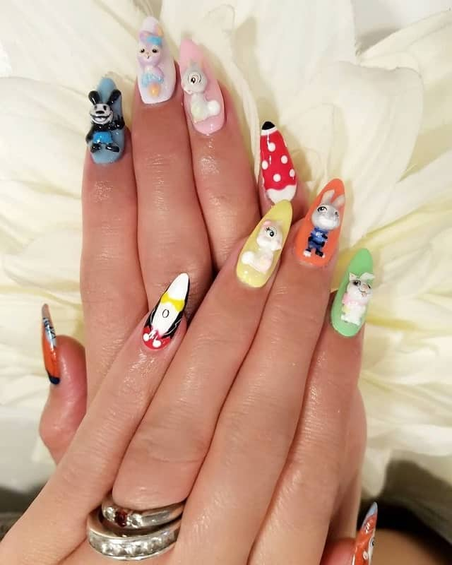disney easter nails