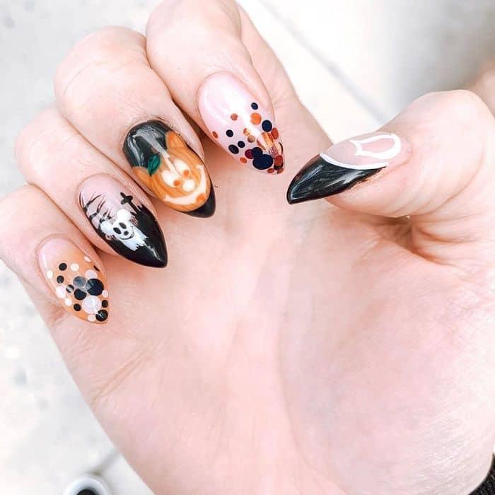 Disney Inspired Halloween Nails