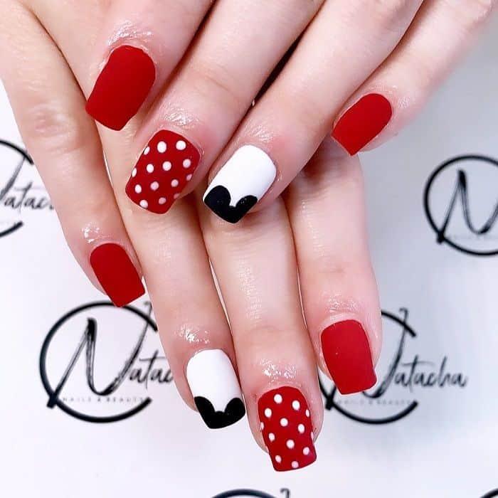 Disney Red Nail Art