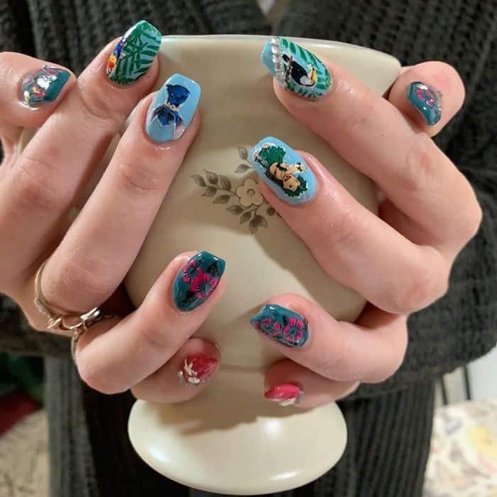 Disney Stitch Nails