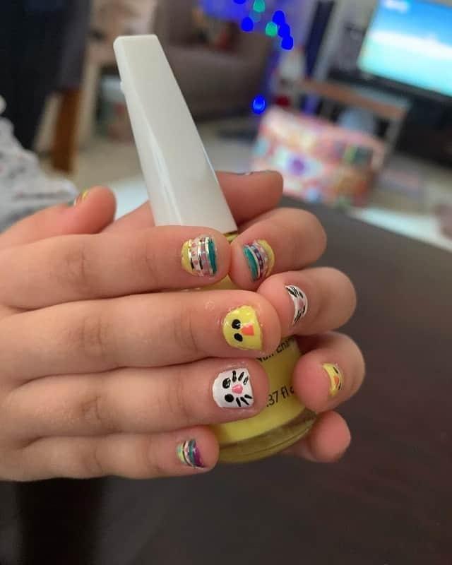 Easter nail art for kids