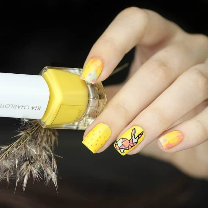 easter nail stamp