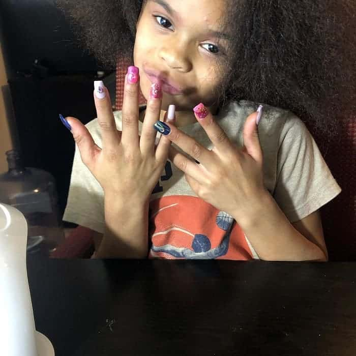 fake nail design for kids
