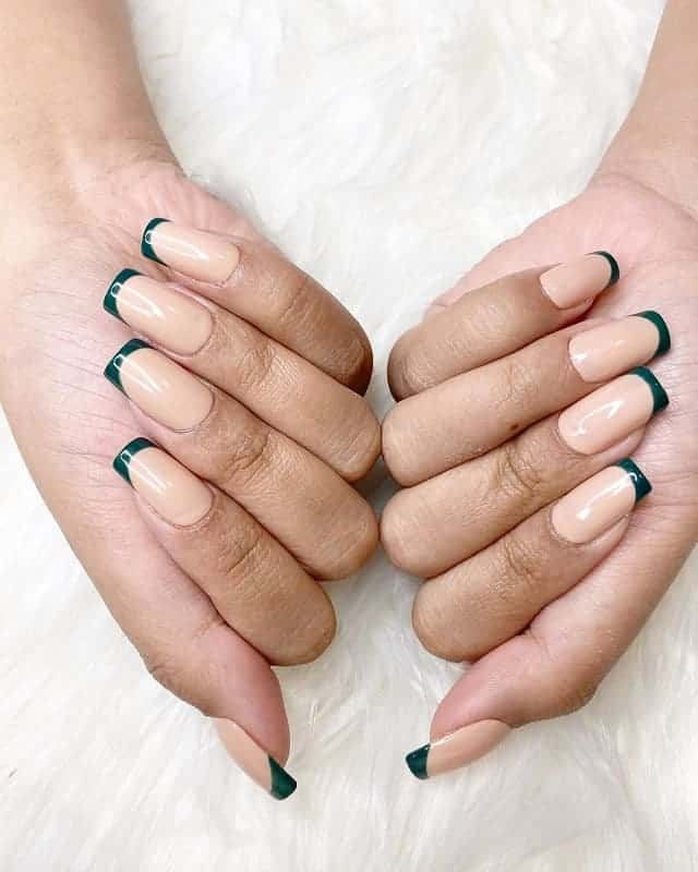 fake nails with french tip