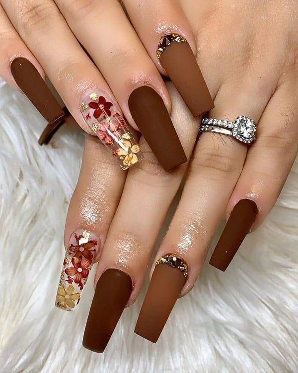 fall coffin nail designs