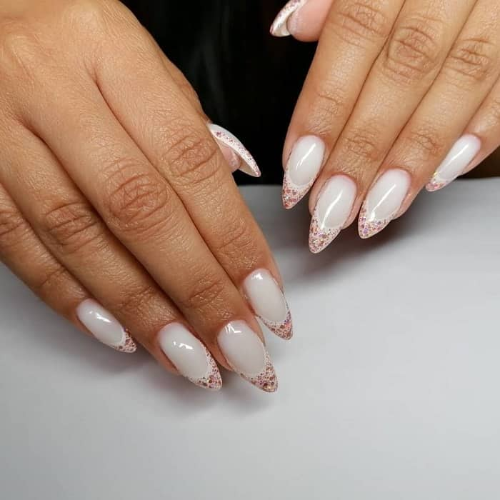 French Tip Sparkle Nails