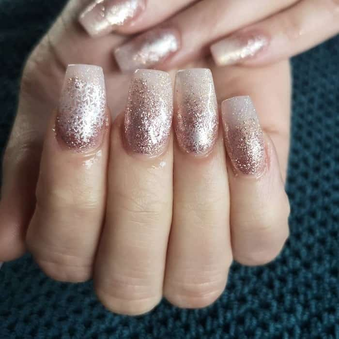 glitter ombre acrylic nails