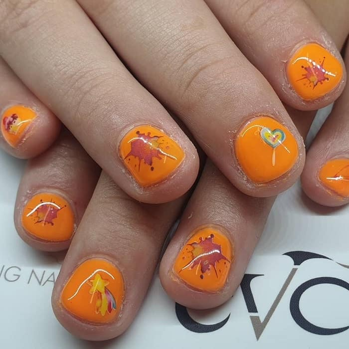 summer nail design for kid