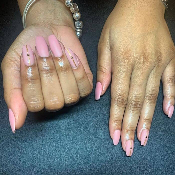 light pink nexgen nails