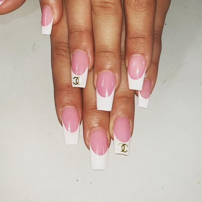 Long French Tip Nails
