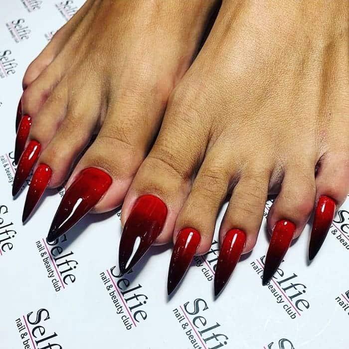 long toe nail design