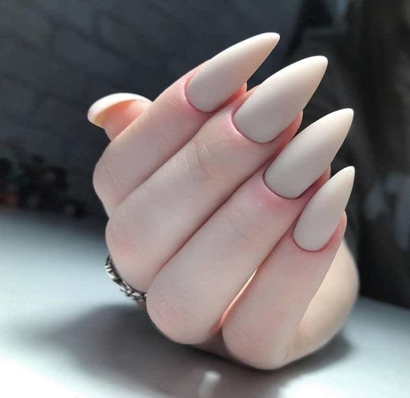 matte shellac nails