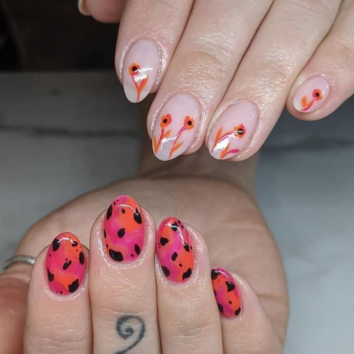medium oval acrylic nails