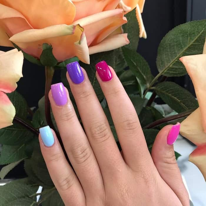 medium square acrylic nails