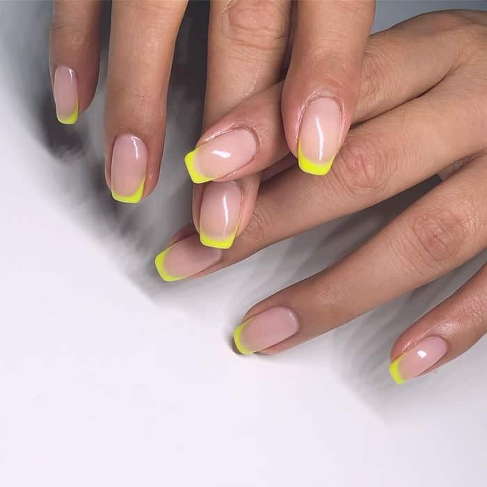 Neon French Tip Nail Design
