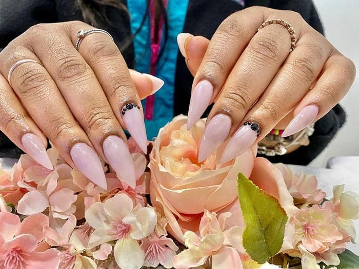 Nude Pointy Nails