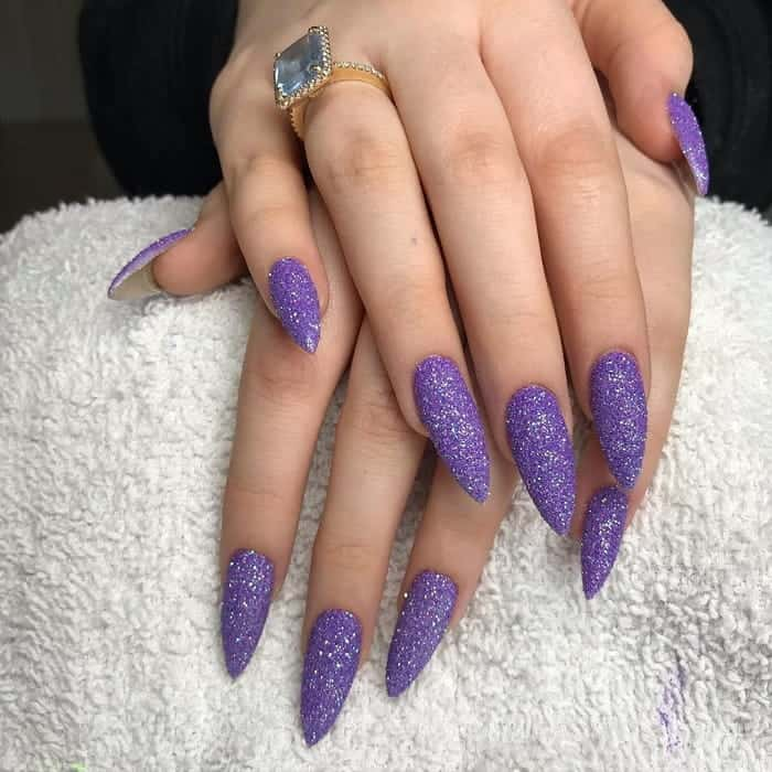 Pointy Purple Nails