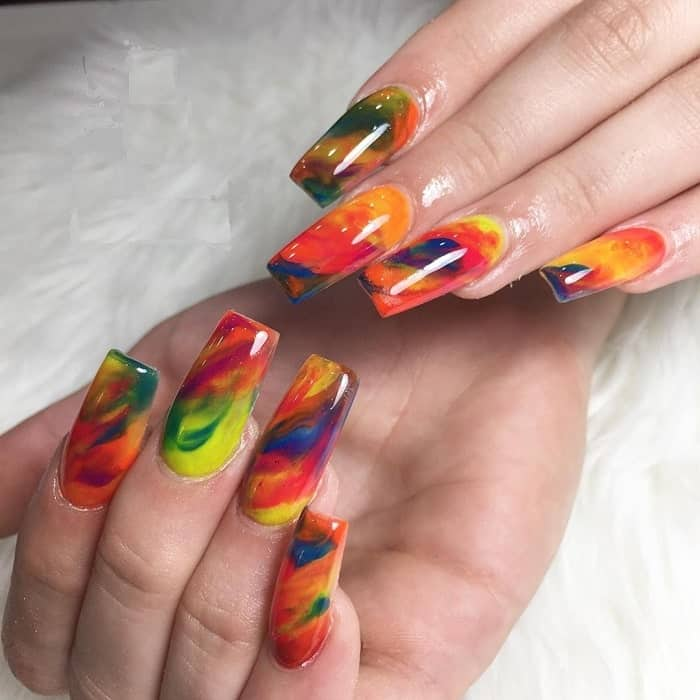 Rainbow Gel Nails