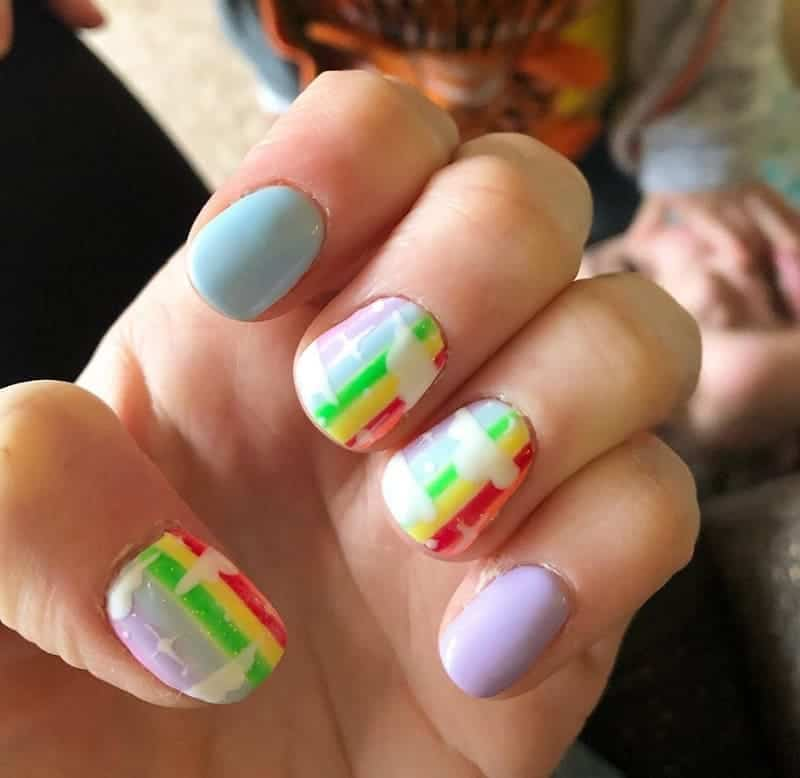 Rainbow Nail Design for Kids