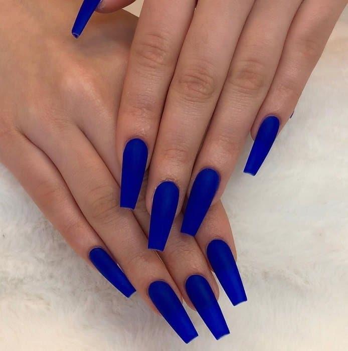royal blue nail designs