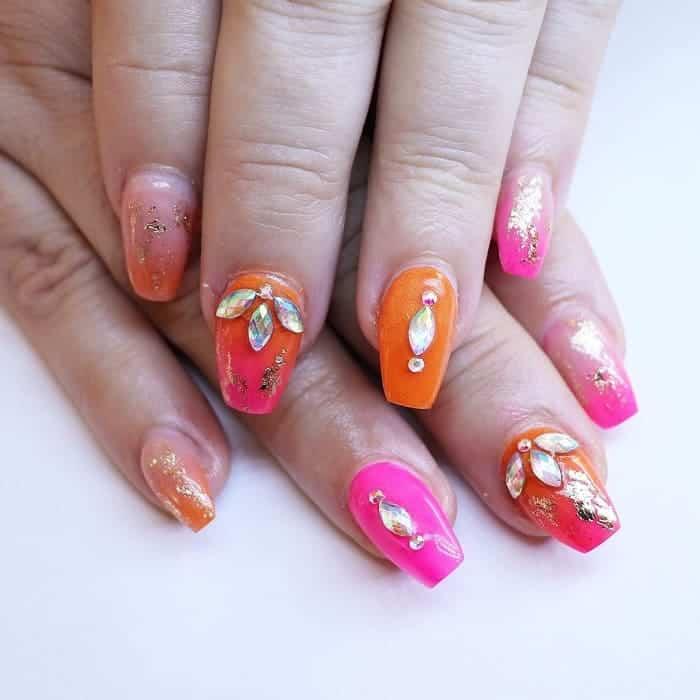 short fake nail design