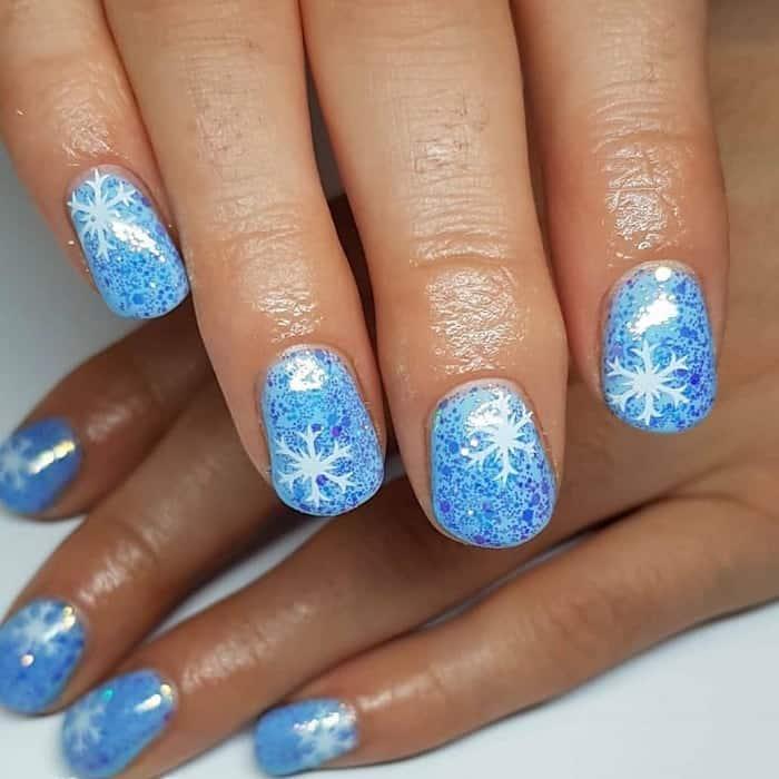 short glitter nails