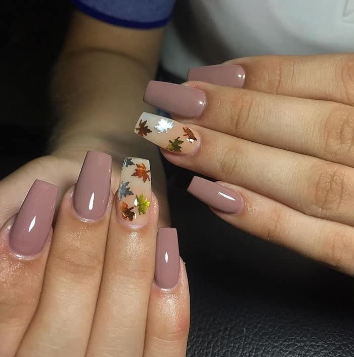 simple fall nail art