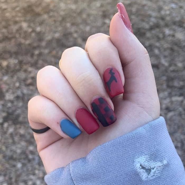 square acrylic matte nails