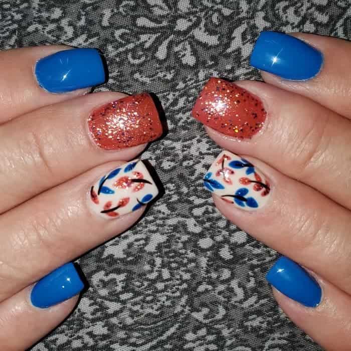 square acrylic fall nails