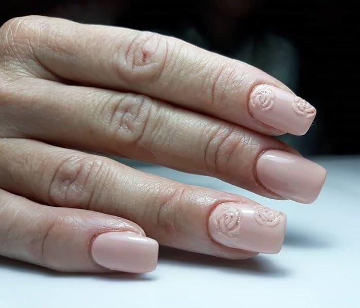squoval acrylic nail art
