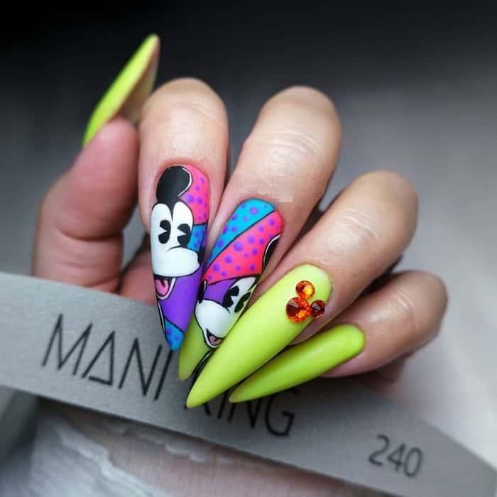 stiletto nails for birthday