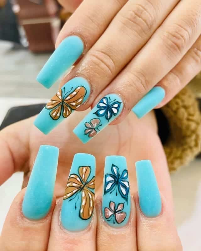 butterfly nails for summer