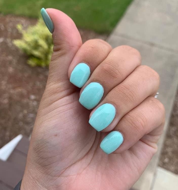 Acrylic Tiffany Blue Nails