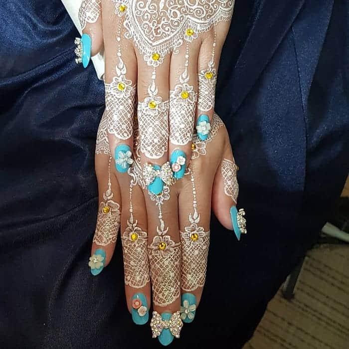 Tiffany Blue Nails for Wedding