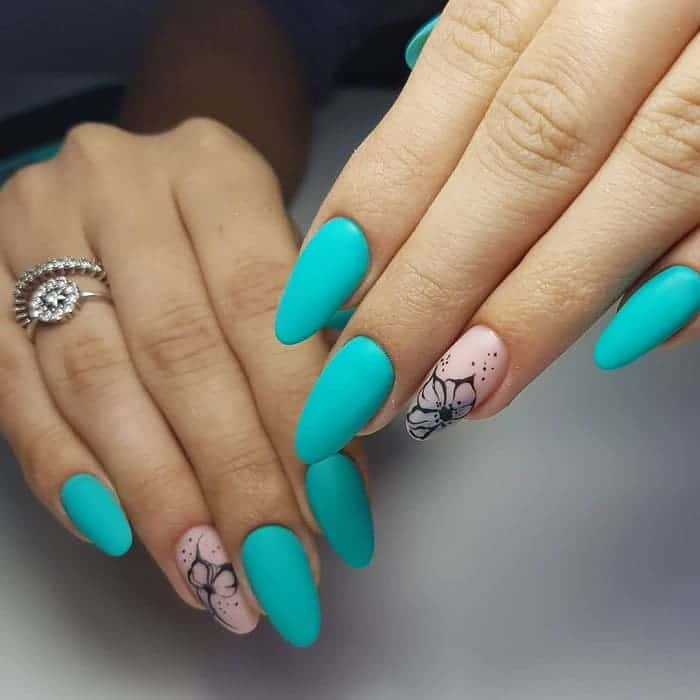 turquoise matte nail polish