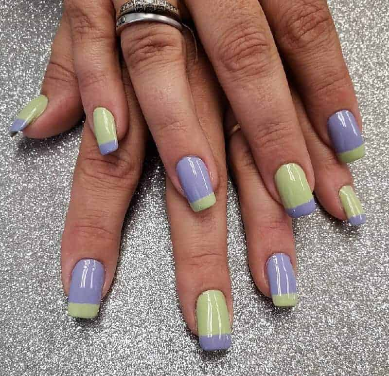 two tone acrylic nails