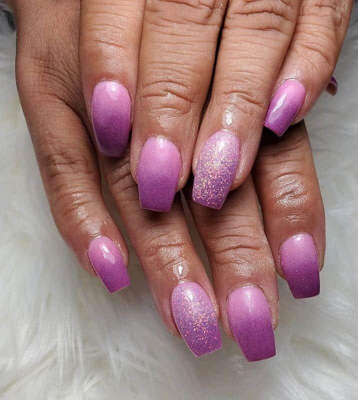 two tone purple nails