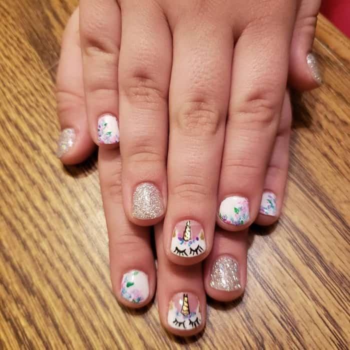 unicorn nails for little girls