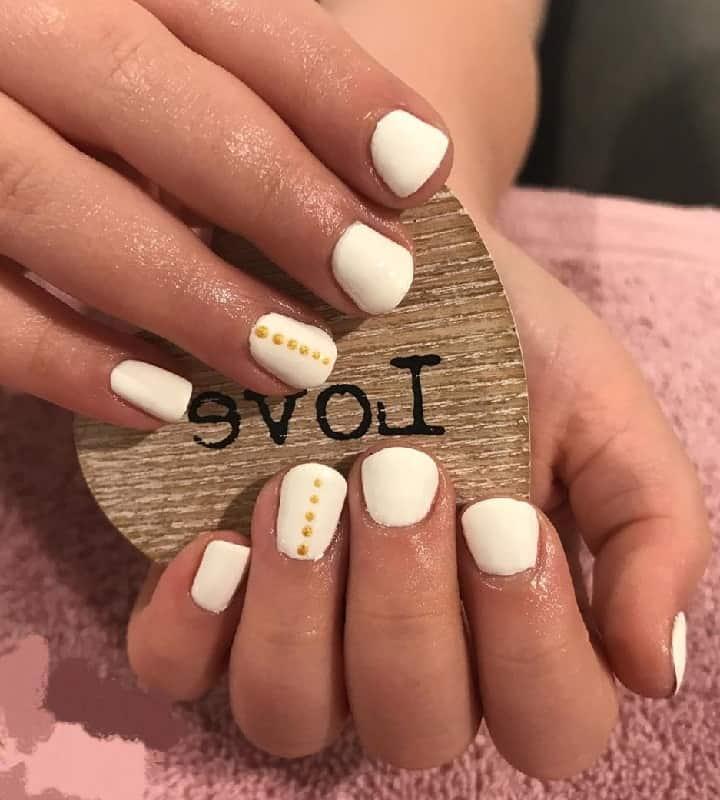 white nails for kids
