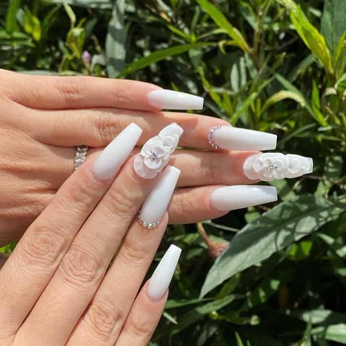 white nexgen nails