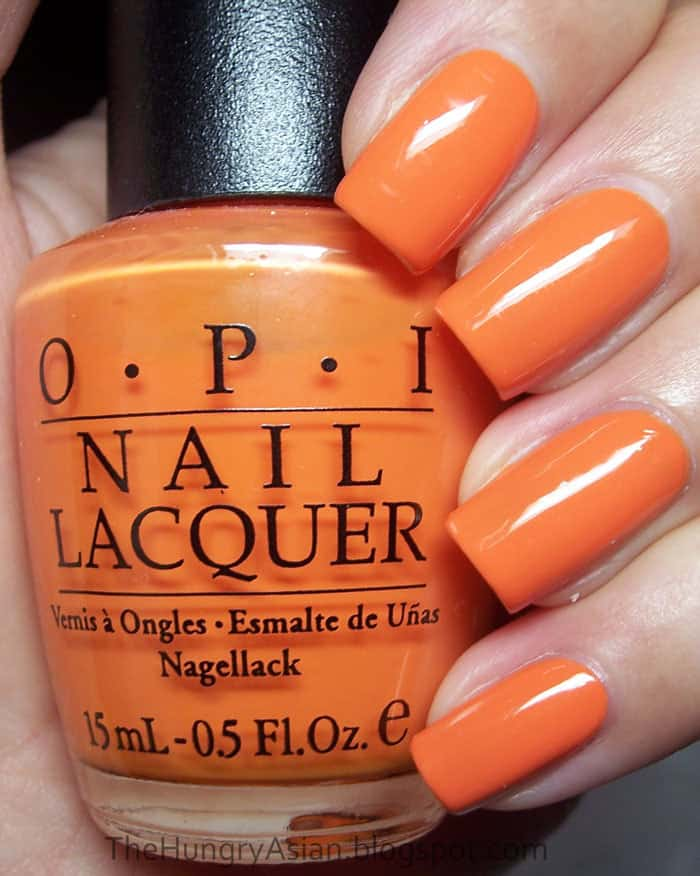 pumpkin color nail
